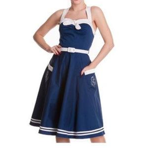 Hell Bunny Navy Siren Dress